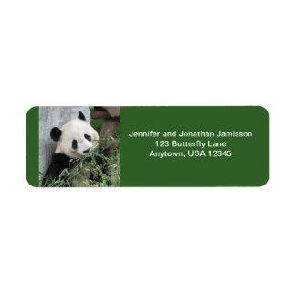 Panda Return Address Labels, Green