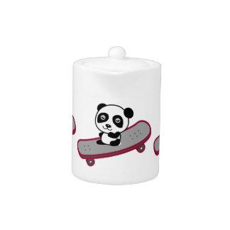 Panda riding on skateboard