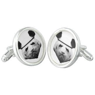 Panda trooper cuff links
