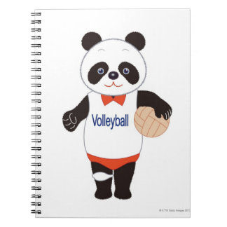 Panda Volleyball Player Notebooks