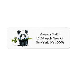 Panda w/ Bamboo Simple Return Address Label