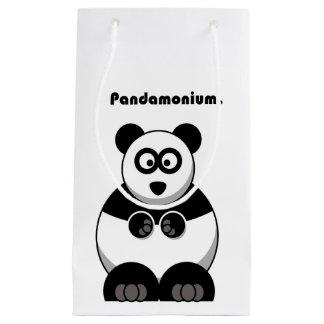 Pandamonium Panda Cartoon Small Gift Bag