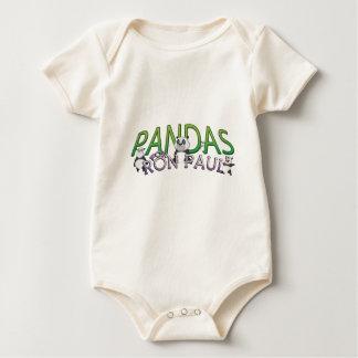 PANDAS FOR RON PAUL BABY BODYSUIT