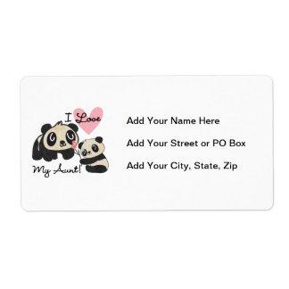 Pandas I Love My Aunt