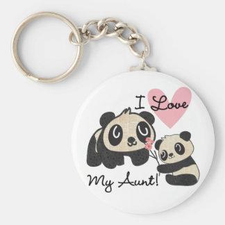Pandas I Love My Aunt Key Ring