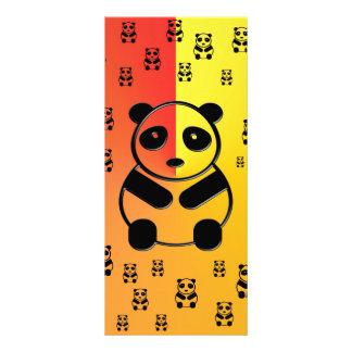 Pandas on yellow orange background full color rack card