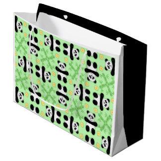 Pandas, Pandas Pattern Gift Bag