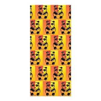 Pandas pattern personalized rack card