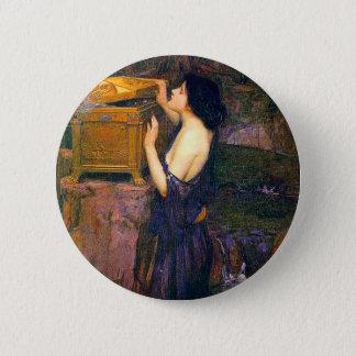 Pandora by John William Waterhouse 6 Cm Round Badge