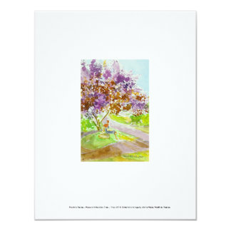 Pandora Series - Hope and the Lilac Tree 11 Cm X 14 Cm Invitation Card