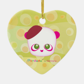 Pandudu Pandas Ceramic Heart Decoration
