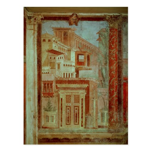 Panel from Cubiculum from the bedroom of the Post Cards