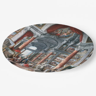 Pannini - Gallery of Views of Modern Rome Paper Plate