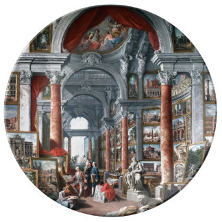 Pannini - Gallery of Views of Modern Rome Plate