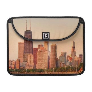 Panorama of Chicago skyline at sunrise Sleeve For MacBooks