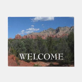 Panorama of Red Rocks in Sedona Arizona Doormat