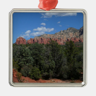 Panorama of Red Rocks Sedona Arizona Travel Photo Silver-Colored Square Decoration