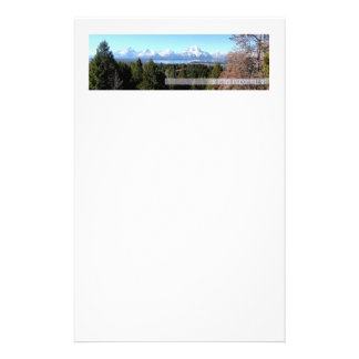 Panoramic of the Tetons Stationery