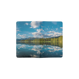 Panoramic view of Beauvert Lake in Jasper Pocket Moleskine Notebook