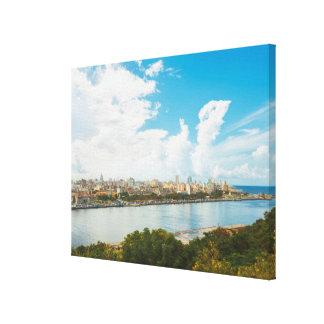 Panoramic View Of Havana, Cuba Canvas Print