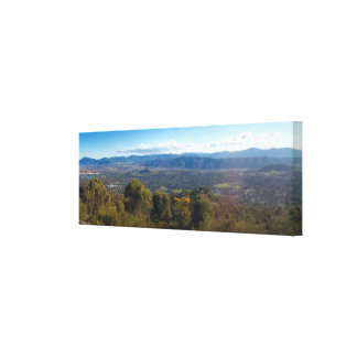 Panoramic view of the Blue Mountains, Canberra Canvas Print