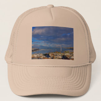 Panoramic view of the Geneva water jet Trucker Hat