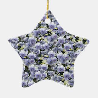 Pansies Ceramic Star Decoration
