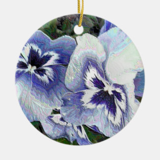 PANSIES CHRISTMAS ORNAMENT