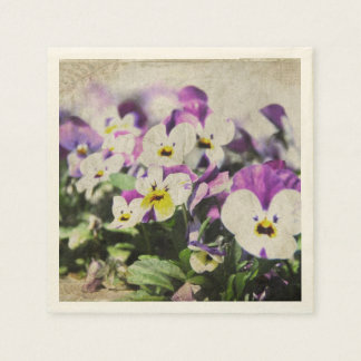 Pansies Disposable Serviettes