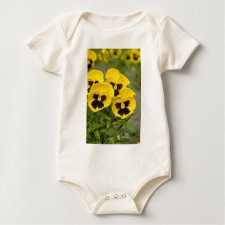 Pansies  flowers baby bodysuit