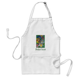 Pansies oil standard apron