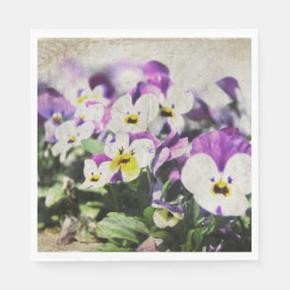 Pansies Paper Serviettes
