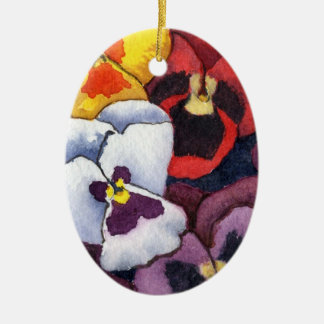 """Pansy #2"" Floral Ornament"