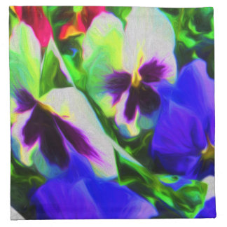 Pansy Art Cloth Napkins