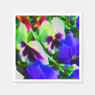 Pansy Art Paper Napkins Large Pack