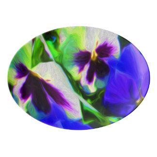 Pansy Art Platter