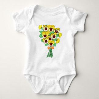 pansy bouquet baby bodysuit