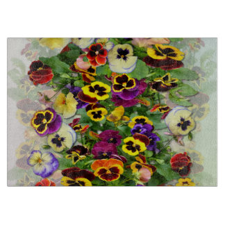 Pansy Cascade Cutting Board