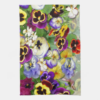 Pansy Cascade Tea Towel