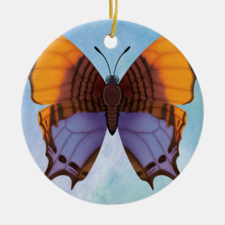 Pansy Daggerwing Butterfly Round Ceramic Decoration