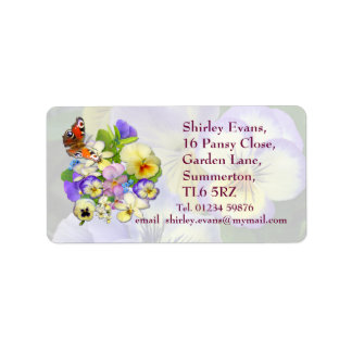 Pansy Display ~ Label # 4 Address Label