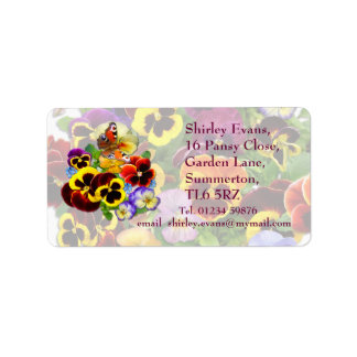 Pansy Display ~ Label Address Label