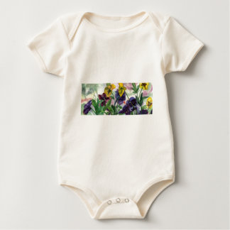 Pansy Field Baby Bodysuit