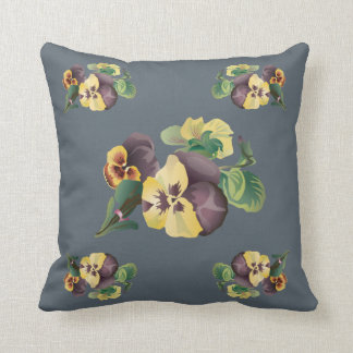 Pansy floral Cushion