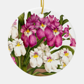 Pansy Orchid Flowers Christmas Ornament