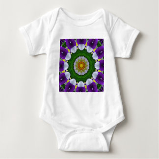 Pansy, Pansies Nature, Flower-Mandala Baby Bodysuit