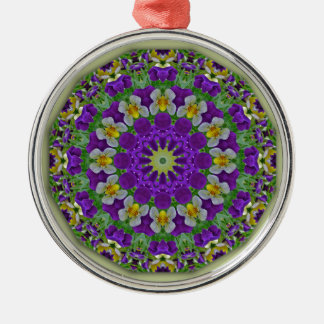 Pansy, Pansies Nature, Flower-Mandala Christmas Ornament