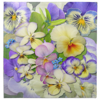 Pansy Pastel  ~ Table  Napkins