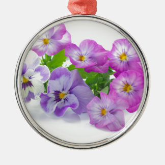 pansy Silver-Colored round decoration