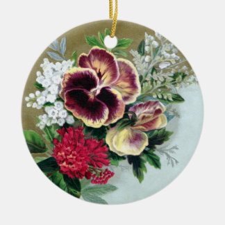 Pansy Tussie-Mussie Christmas Ornament